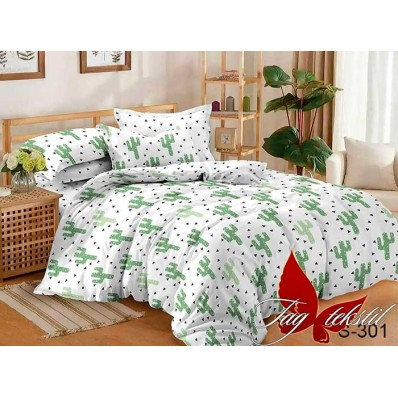 Комплект постельного белья с компаньоном TM Tag-tekstil сатин люкс S301