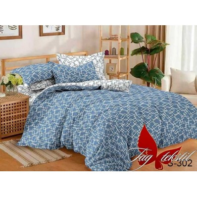 Комплект постельного белья с компаньоном TM Tag-tekstil сатин люкс S302