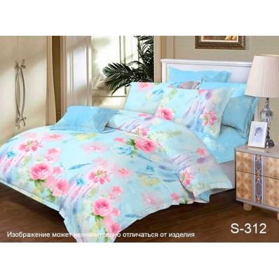 Комплект постельного белья с компаньоном TM Tag-tekstil сатин люкс S312