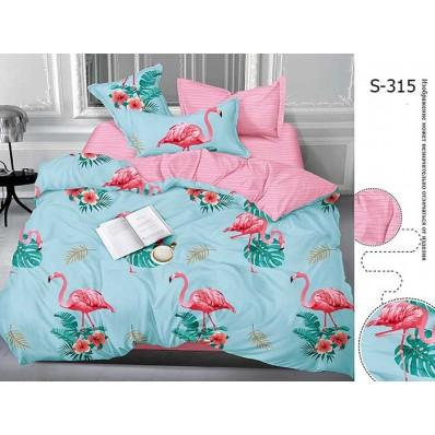 Комплект постельного белья с компаньоном TM Tag-tekstil сатин люкс S315