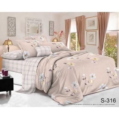 Комплект постельного белья с компаньоном TM Tag-tekstil сатин люкс S316