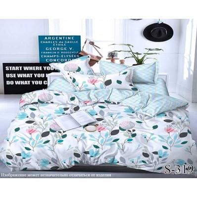 Комплект постельного белья с компаньоном TM Tag-tekstil сатин люкс S319