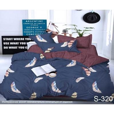 Комплект постельного белья с компаньоном TM Tag-tekstil сатин люкс S320