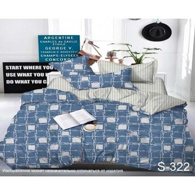 Комплект постельного белья с компаньоном TM Tag-tekstil сатин люкс S322