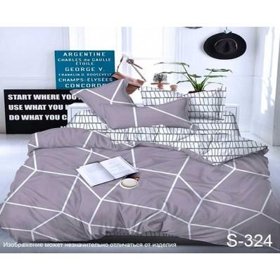 Комплект постельного белья с компаньоном TM Tag-tekstil сатин люкс S324