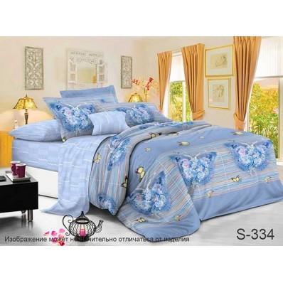 Комплект постельного белья с компаньоном TM Tag-tekstil сатин люкс S334