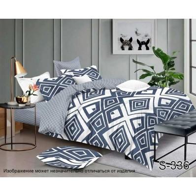 Комплект постельного белья с компаньоном TM Tag-tekstil сатин люкс S336