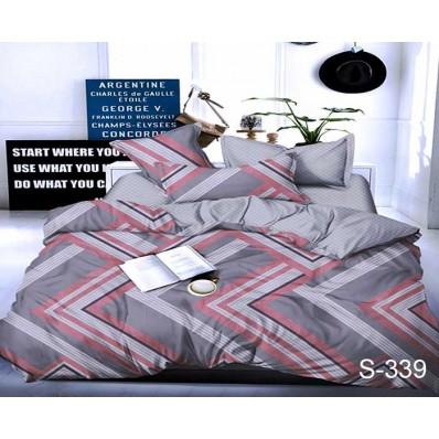 Комплект постельного белья с компаньоном TM Tag-tekstil сатин люкс S339