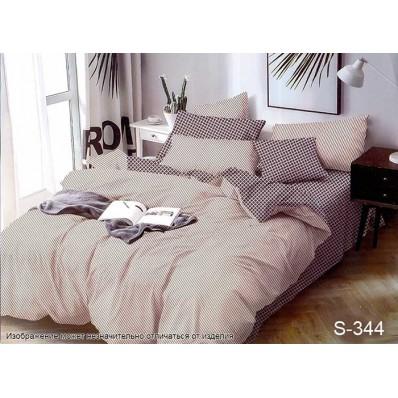 Комплект постельного белья с компаньоном TM Tag-tekstil сатин люкс S344