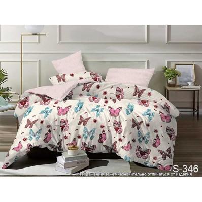 Комплект постельного белья с компаньоном TM Tag-tekstil сатин люкс S346