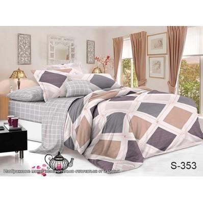 Комплект постельного белья с компаньоном TM Tag-tekstil сатин люкс S353