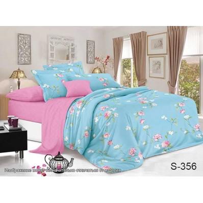 Комплект постельного белья с компаньоном TM Tag-tekstil сатин люкс S356