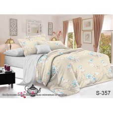 Комплект постельного белья с компаньоном TM Tag-tekstil сатин люкс S357