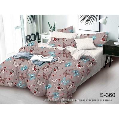 Комплект постельного белья с компаньоном TM Tag-tekstil сатин люкс S360