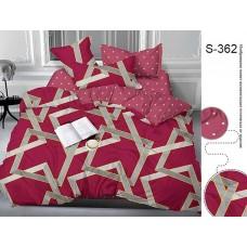 Комплект постельного белья с компаньоном TM Tag-tekstil сатин люкс S362
