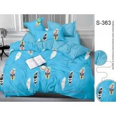 Комплект постельного белья с компаньоном TM Tag-tekstil сатин люкс S363