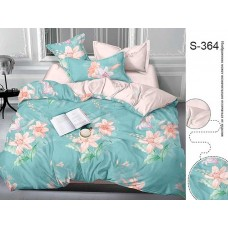 Комплект постельного белья с компаньоном TM Tag-tekstil сатин люкс S364