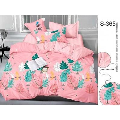 Комплект постельного белья с компаньоном TM Tag-tekstil сатин люкс S365