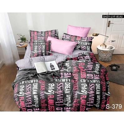 Комплект постельного белья с компаньоном TM Tag-tekstil сатин люкс S379