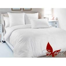 Комплект постельного белья TM Tag-tekstil страйп-сатин ST-0001 White
