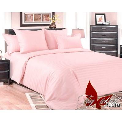 Комплект постельного белья TM Tag-tekstil страйп-сатин ST-0013 Pudra