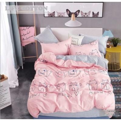 Постельное белье Tirotex бязь TRX00100 Котики мяу розовые