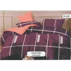 Постельное белье Tirotex бязь TRX00177 Love you вишневый