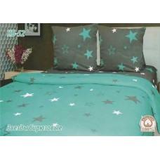 Постельное белье Tirotex бязь TRX00192 Звезды бирюзовые