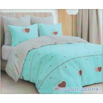 Постельное белье Tirotex бязь TRX00211 Сердца двоих голубое