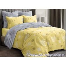 Постельное белье Tirotex бязь TRX00222 Сердце паутинка жолтый